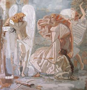 THE HISTORY OF PSYCHE. THE CREATION OF THE CYCLE OF  WALL PAINTINGS FOR THE WHITE HALL OF THE RUSSIAN ACADEMY OF ARTS: MASTER CLASS OF THE ACADEMICIAN OF THE RUSSIAN ACADEMY OF ARTS ALBINA AKRITAS