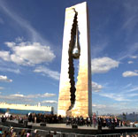 The opening of the memorial to the victims of international terrorism