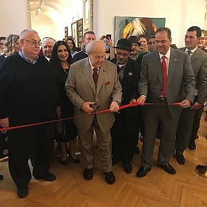 Ambassador of the Kingdom of Bahrain to the Russian Federation Opens Bahraini Artist Show